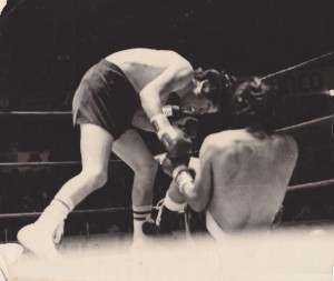 Duarte v. Chamaco Lopez in the Mexacali Bull Ring. Knock out by Durate in Round 9
